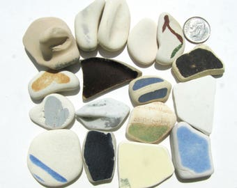 SALE! 17-Piece Lot of Geniune Sea Pottery