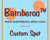 FAST TRACK!!! Custom Spot for Bamberoo wrap conversion/Canvas SSC or Bamberoo Breeze baby carrier Starting at 225.00