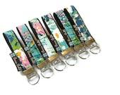 READY TO SHIP - Key Fob Wristlet - keyfob - keychain - fabric key chain - Borsa Bella - I come to the garden... Fabric