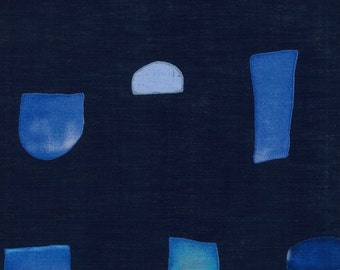 Japanese Fabric Kokka 3 min. - SS2 - indigo blue - 50cm