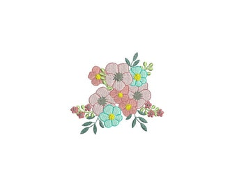 Machine Embroidery Flower Bouquet Machine Embroidery File design 4x4 inch hoop Embroidery design