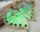 Sihaya Designs Faery Wing Earrings - Dryad - Iridescent Fairy Wing Jewelry