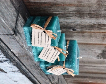 Trio of Yacht Salt Scented Square Pillar Candles