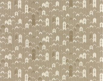 Persimmon Tan Arrow/Herringbone by Basic Gray for Moda Fabrics Half Yard