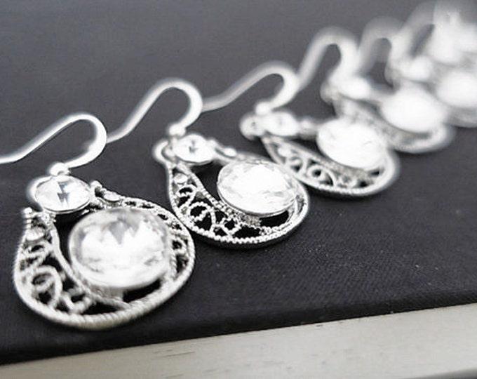 Teardrop Earrings for Bridesmaids