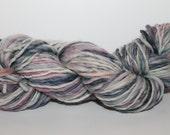 Handspun Corriedale Wool Yarn.  Single Ply Worsted Weight. appx. 4oz 140 yards