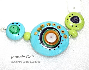 Lampwork  Art Beads by Jeanniesbeads #1981