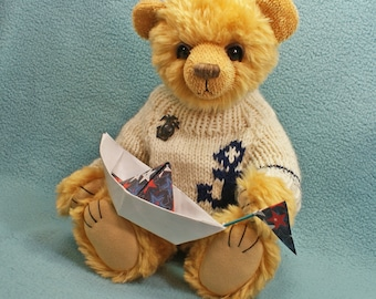Nathaniel Artist Bear Mohair  sailor hand knit sweater