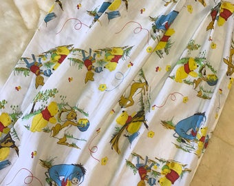 2 Winnie-the-Pooh Curtain Panels by Sears • Perma-Prest • Walt Disney Productions • Vintage Disney • Bear