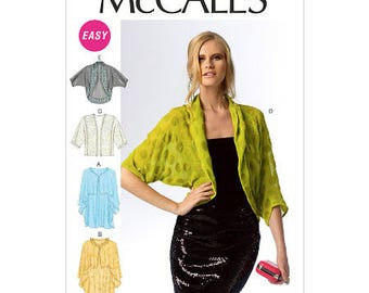 McCall's Pattern 6845 Sewing Pattern, sizes large, xlarge, and xxlarge,  Misses' Wraps and Jackets New, uncut