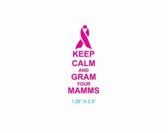 Mammogram Awareness Breast Cancer Detection Rubber Stamp 545