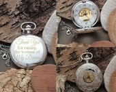 PW Father of the Bride Pocket Watch Gift, Engraved Pocket Watch Gift / Thank You For Raising The Woman Of My Dreams Personalized Gift