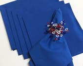 Blue and Red Napkins