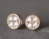 Marisa Stud Earrings in 14K Gold with Diamonds