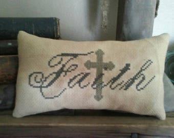 PriMiTiVe - - Faith - - EaRLy LoOk CrOSs STiTcH Cupboard Tuck -  LoVe