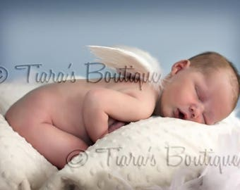 Angel Wings for Baby - Photo Prop Infant Feather Angel Wings - READY TO SHIP - Wings Only