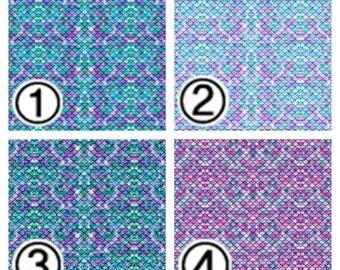 "Printed Vinyl,Patterned Vinyl,HTV Prints,Sheet size 12""x12'',Heat Transfer Vinyl,Vinyl Sheet,Small Scale Mermaid Tail Pattern Vinyl SKU 0311"