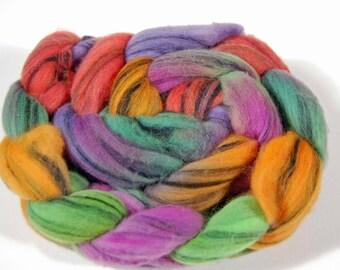 Wool Top - Merino swirl 100% Merino wool for spinning or felting FIBER 25