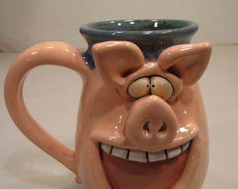 Happy Piggly Wiggly   Pig Mug ... Oink .....                        A93