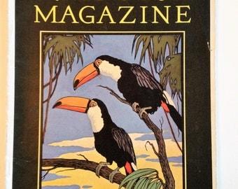 Nature Magazine TOUCANS  November Vol 16 No 5 1930 Vintage Nature Magazine