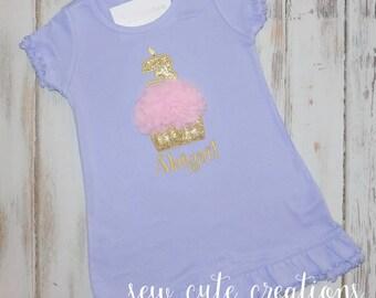 Cupcake Birthday Dress, Girl Birthday Dress, Chiffon cupcake Birthday Dress, First Birthday Dress, Pink Gold Dress, sew cute creations