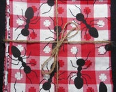 Ant Picnic Reversible Cloth Lunch Napkin Set