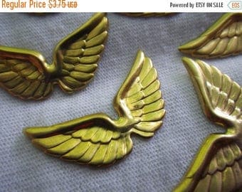On Sale 25% Off Brass Wing Charms 30x17mm 6 Pcs