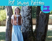 PDF SEWING PATTERN - Complete Renaissance Maiden Outfit - girls age 4 thru 12 - renaissance costume, medieval dress, cosplay pattern