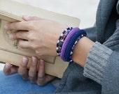 Modern crochet bracelet