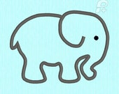 Baby Elephant APPLIQUE Machine Embroidery Design File