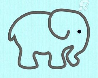 Baby Elephant APPLIQUE Machine Embroidery Design File