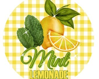Mint Lemonade Stickers, Lemon Stickers, Picnic, Fruit stickers, Fruit Labels, Lemonade Stand, Vintage, Retro Lemonade