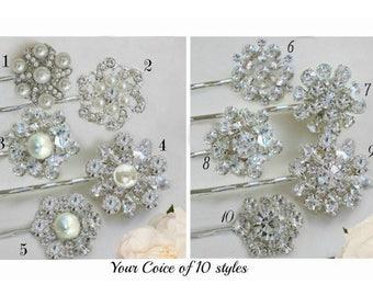 Choose 1, Bridesmaids hair, pearl crystal, Wedding hair pin, Bridal bobby pin, Wedding clip, Crystal clip Pearl, Mix Match, bridesmaid gift