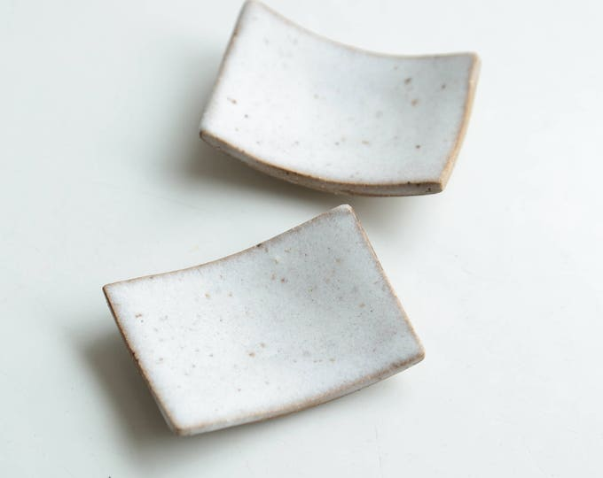 Set of Paul Lowe Ceramics Salt/Pepper Dishes