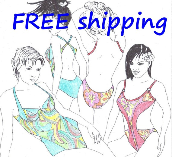 FREE Ship Pattern BAD3 for 2 SUN-BATHING swimsuits by Merckwaerdigh