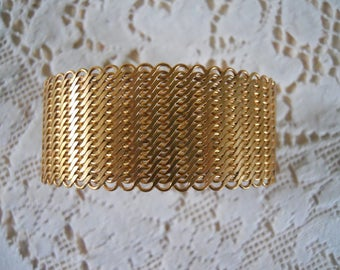 Vintage Mesh Cuff Bracelet Blank