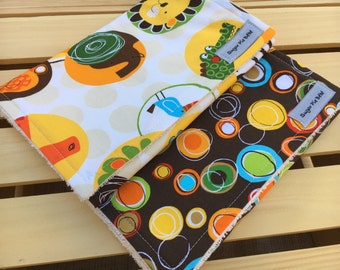 Burp Cloths / Jungle Baby Gifts / Burp Rags / Baby Gifts
