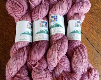 100% Baby Alpaca Yarn 200 Yd Skeins Hand Dyed Soft Rose