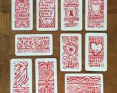 21 Heart Salute Miniature Card Deck