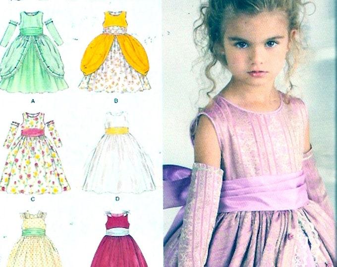 Elegant Flowergirl dress sewing pattern Simplicity 1508 Uncut Sz 4 to 8 Wedding party