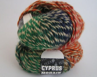 YARN CYPRUS Mohair Multi Color 113 Lot 02 Approx 50 grams approx 88 yards CLEARANCE Sale