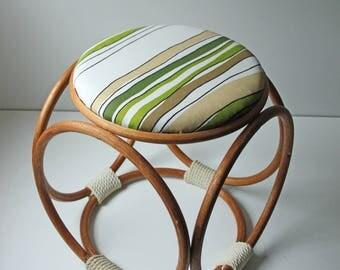 Vintage modern bentwood foot stool