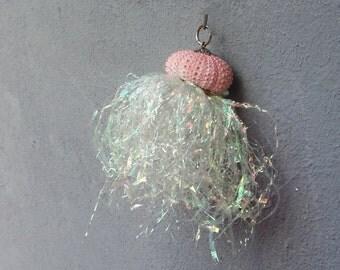 Shiny Jellyfish Ornament, Jellyfish Home Decor, Sea Urchin Ornament