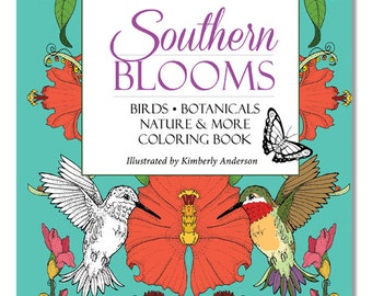 SALE Southern Blooms Adult Coloring Book