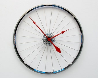 bike wheel clocChristmas gift, bike christmas gift, bike lover clock gift, bicycle clock, Recycled Bike Wheel tire clock, industrial gift