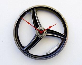 Bicycle Wall Clock, Large Wall Clock, Bike Wheel Clock, Cyclist Gift, Unique Wedding Gift, Steampunk Decor, Modern Wall Clock, BMX clock