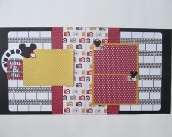 You and Me Mickey 12x12 Scrapbook Layout, Scrapbook Page, Scrapbook Mini Album, Pre-Made Pages, Pre-Made Albums