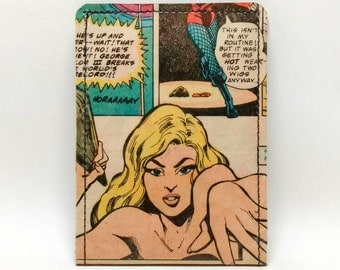 Sewn Duct Tape Comic Book Wallet - Vintage 70s Black Canary Design 2