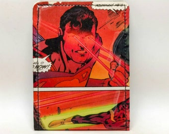 Sewn Duct Tape Comic Book Wallet - Superman Design 16
