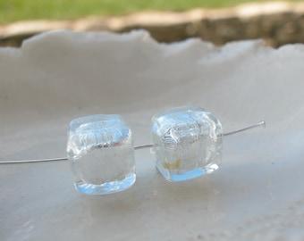 Murano Glass Cube Beads